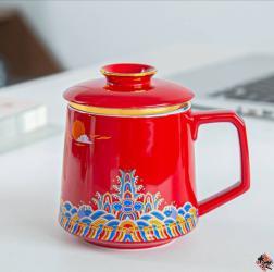 海水江崖-牡丹红 TEA CUP RED
