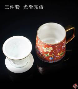 珐琅彩-孔雀绿 TEA CUP GREEN