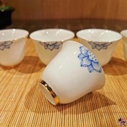 溪客盖碗套组 (白瓷)TEA SET